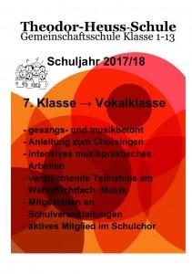 Vokalklasse - Flyer für Werbung 01-1